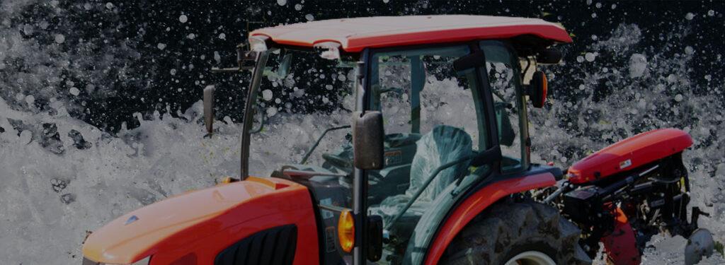 トラクター 水没対策